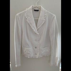 White Cotton Blazer/ Jacket